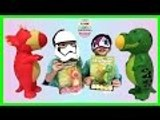 T-Rex Popper and Triceratops Popper Dinosaur Poppers Dino Shooting Balls | Liam and Taylor's Corner