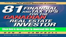 [Popular] 81 Financial and Tax Tips for the Canadian Real Estate Investor: Expert Money-Saving