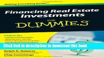 [Popular] Financing Real Estate Investments For Dummies Hardcover Collection