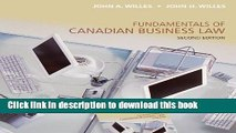 [Popular] Fundamentals of Canadian Business Law, Second Edition Paperback Collection