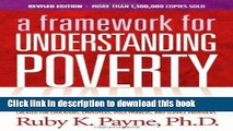 [Popular] A Framework for Understanding Poverty 5th Edition Hardcover Collection