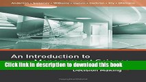 [Download] An Introduction to Management Science: Quantitative Approaches to Decision Making