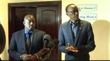 Conference de Presse de Paul Kagame et Joseph Kabila après leur rencontre à Rubavu, au Rwanda , 12 August 2016