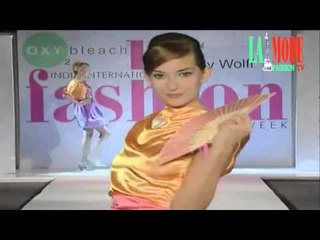 Short Dresses collection presented by Rudy Wolff in India International Fashion Week Delhi