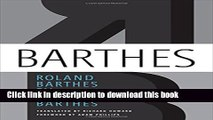 [Popular] Roland Barthes by Roland Barthes Kindle Free