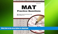 READ BOOK  MAT Practice Questions: MAT Practice Tests   Exam Review for the Miller Analogies