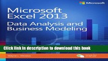 [Download] Microsoft Excel 2013 Data Analysis and Business Modeling Kindle Collection