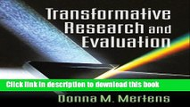 [Popular Books] Transformative Research and Evaluation Full Online