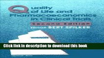[Popular Books] Quality of Life and Pharmacoeconomics in Clinical Trials Free Online