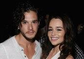 Game of Thrones Emilia Clarke and Kit Harington Funny Moments ( jon snow and daenerys targaryen )