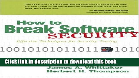 [Download] How to Break Software Security Kindle Free
