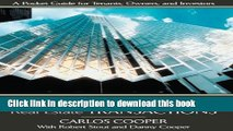 [Popular] Commercial Real Estate Transactions: A Pocket Guide for Tenants, Owners and Investors
