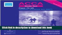 [Popular] ACCA F6 UK Taxation Finance Act 2007 Study Text: Paper F6 (UK): ACCA Study Text Kindle