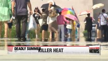 Growing number of heat related illnesses due to record breaking Summer heat in Korea