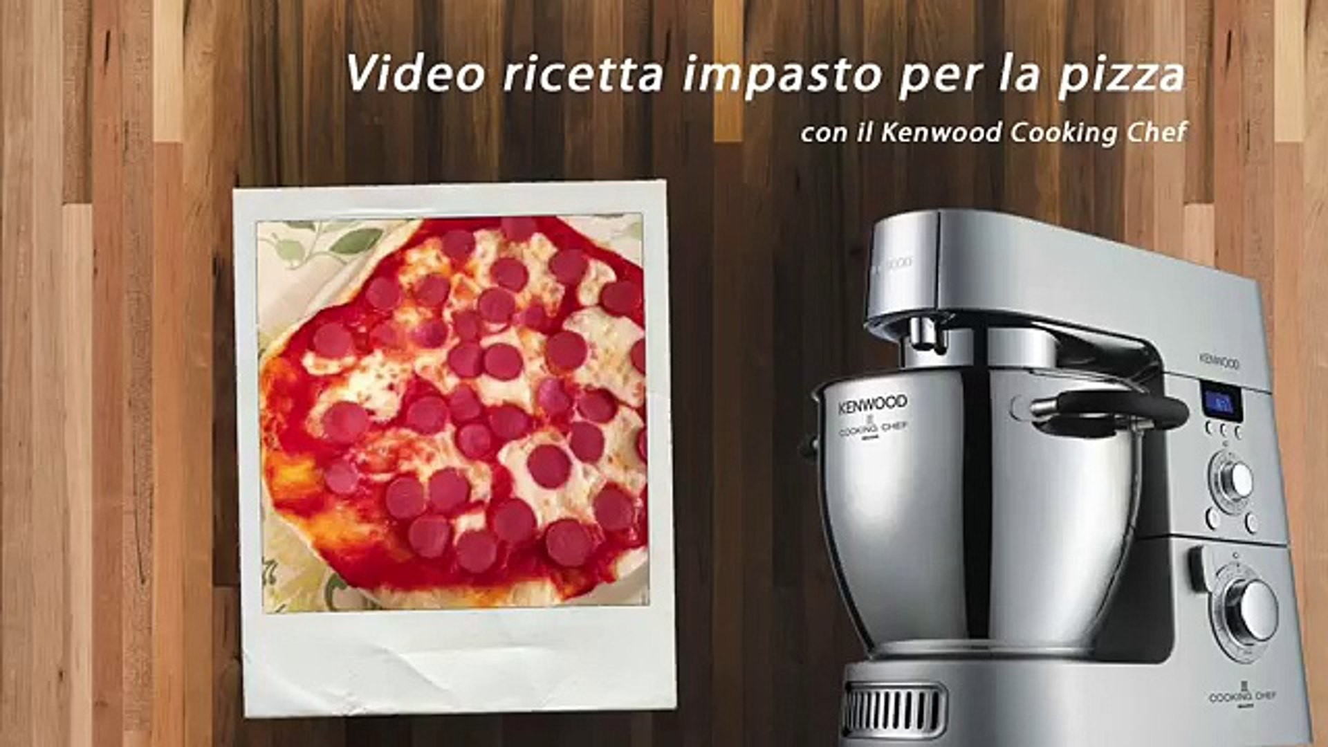 Ricetta Pizza Kenwood Chef.Video Ricette Kenwood Impasto Base Pizza Con Kenwood Cooking Chef Video Dailymotion