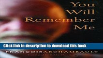 [Popular] You Will Remember Me Hardcover Collection