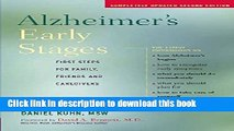 [Popular] Alzheimer s Early Stages: First Steps for Family, Friends and Caregivers Paperback Free