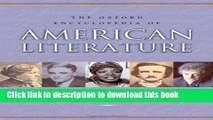 [Download] The Oxford Encyclopedia of American Literature: 4 volumes: print and e-reference