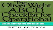 [Read PDF] The Oliver Wight ABCD Checklist for Operational Excellence Download Online