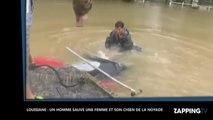 Louisiane : Une femme et son chien sauvés de la noyade au dernier moment, les images chocs (Vidéo)