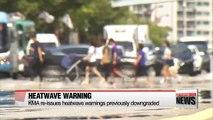Seoul under heatwave advisory again, U.S. also battles high temps