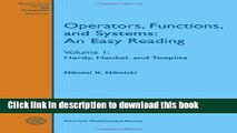 Operators, Functions, and Systems: An Easy Reading. Model operators and systems