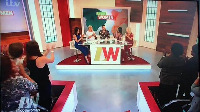 Hollyoaks star Duncan James on loose women 2016 no copyright all rights belong to itv