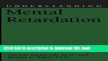 [Popular Books] Understanding Mental Retardation (Understanding Health and Sickness Series) Free