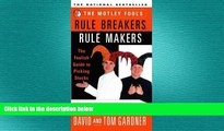 READ book  [(The Motley Fool s Rule Breakers, Rule Makers: The Foolish Guide to Picking Stocks )]