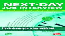 [Popular Books] Next-Day Job Interview: Prepare Tonight and Get the Job Tomorrow Free Online