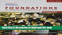 [Download] Activity Guide for Foundations of Restaurant Management and Culinary Arts: Level 1