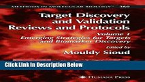 Books Target Discovery and Validation Reviews and Protocols: Emerging Strategies for Targets and