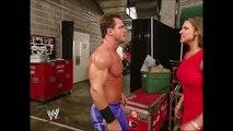 Stephanie McMahon & Chris Benoit Backstage SmackDown 08.29.2002 (HD)
