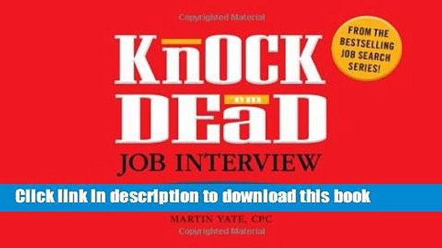 [Popular Books] Knock  em Dead Job Interview Flash Cards: 300 Questions   Answers to Help You Land