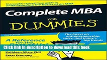 [Download] Complete MBA For Dummies Kindle Free