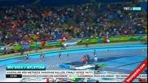 400 metre atletizm finalinde Shaunae Miller bitiş çizgisine uçarak altın madalya kazandı
