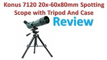 Konus 7120 20x-60x80mm Spotting Scope with Tripod And Case Review - Best Spotting Scopes.
