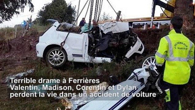 Terrible drame à Ferrières : Valentin, Madison, Corentin et Dylan perdent la vie dans un accident de voiture