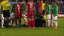 Goalkeeper Aly Keita Attacked by fan! (Jönköpings Södra IF- Östersunds FK)