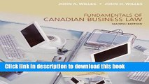 [Popular] Fundamentals of Canadian Business Law, Second Edition Paperback OnlineCollection