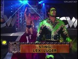 Sting and Lex Luger offer to 4 Horsemen, WCW Monday Nitro 19.08.1996
