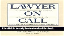 [Popular Books] Lawyer on Call: From Accidents, Contracts and Divorce to Lawsuits, Real Estate and