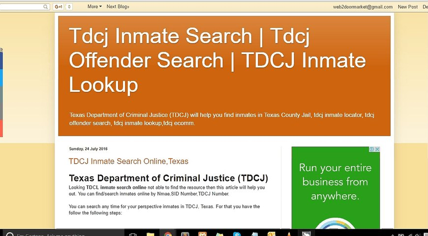 TDCJ Inmate Search Guide