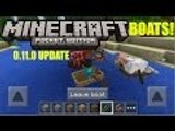 MCPE 0.11.0 Features Boats/Skins