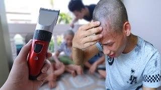 Tro Dua An Kem Cham Mam Cao Troc Dau Shaved Head Prank