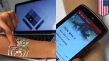 DuoSkin: MIT students design 'smart' tattoo that can control your gadgets - TomoNews