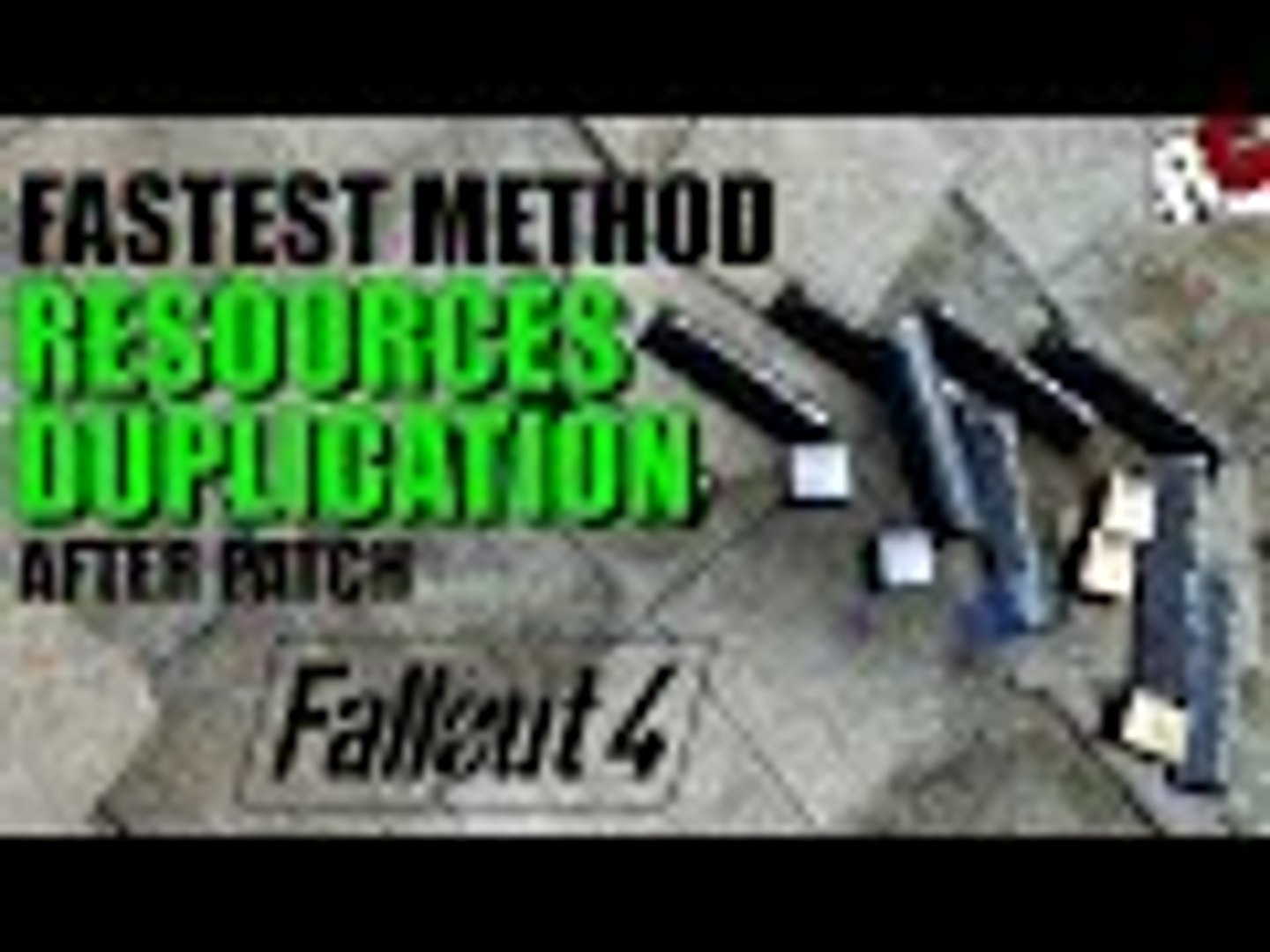 Fallout 4   How to Duplicate Resources FASTER After Patch - New Method!  (Fallout 4 Exploits)
