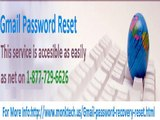 Reset Gmail Password is available on toll free number@1-877-729-6626