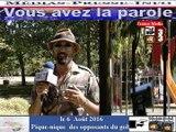 Télévision-Bordeaux-33 Pique-nique avec les opposants du golf de villenave pres de bordeaux
