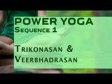 Power Yoga | Trikonasan & Veerbhadrasan